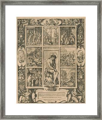 Scenes From The Passion, Print Maker Jacob Bos Framed Print by Jacob Bos And Pietro Paolo Palombo And Jacob Bos