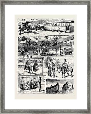 Scenes In Batavia Framed Print by English School