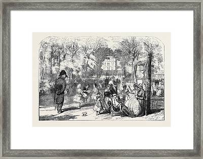 Scenes In Paris The Gardens Of The Tuileries Framed Print