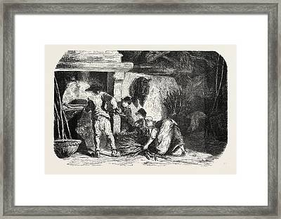 Scenes Of Country Life The Bakehouse. Studies By Damourette Framed Print