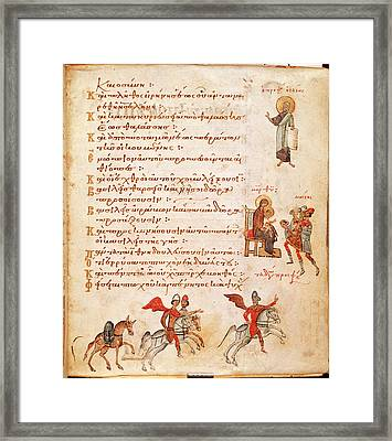 Scenes With Isaiah And The Magi Framed Print by British Library