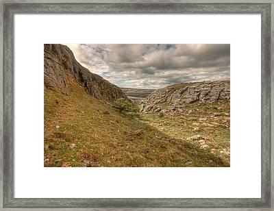 Scenic Burren Landscape Framed Print by John Quinn