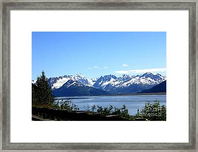 Framed Print featuring the photograph Scenic Byway In Alaska by Kathy  White