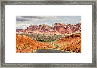 Scenic Drive In Capitol Reef Utah Framed Print by Pierre Leclerc Photography
