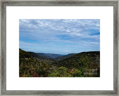 Scenic Fall View In Tennessee Framed Print