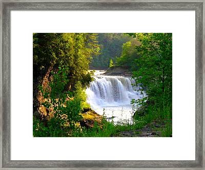 Scenic Falls Framed Print