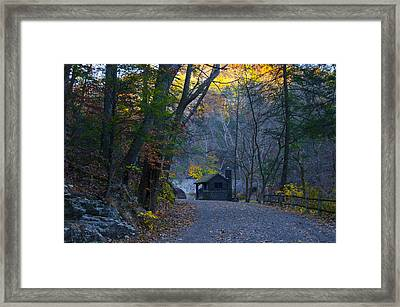 Scenic Forbidden Drive In Philadelphia Framed Print by Bill Cannon