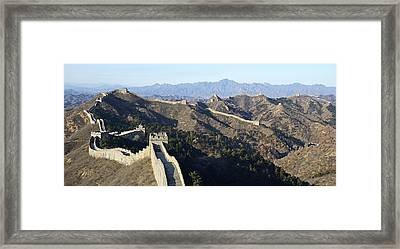 Scenic Great Wall Of China Framed Print by Brendan Reals