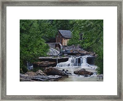 Scenic Grist Mill Framed Print by Vicky Path