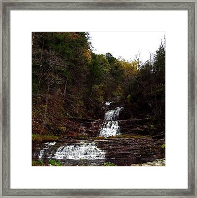 Scenic Kent Falls Framed Print by Stephen Melcher