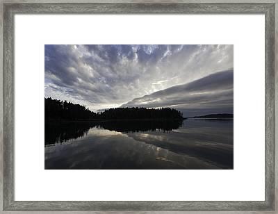 Scenic Maine Roque Island Archipelago Reflections Framed Print by Susan  Degginger