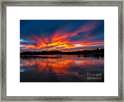 Scenic Marine Sunrise Framed Print by Robert Bales