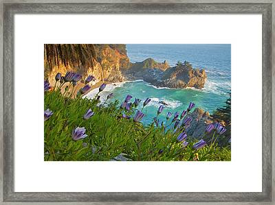 Scenic Mcway Falls Tumbles Framed Print by Chuck Haney