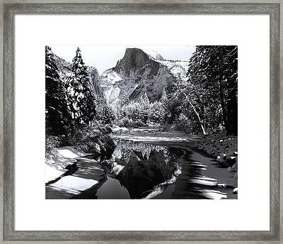 Scenic Mountains Loom Largely Framed Print