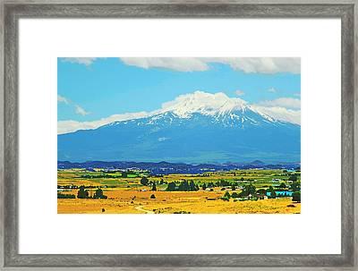Scenic Mt Shasta California Framed Print by Donna Haggerty