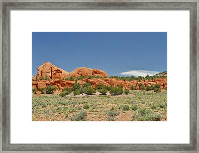 Scenic Navajo Route 12 Near Fort Defiance Framed Print by Christine Till