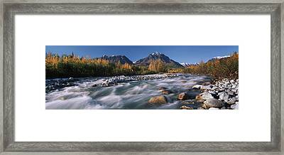 Scenic Of Granite Creek In Autumn Sc Framed Print by Calvin Hall