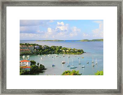Scenic Overlook Of Cruz Bay St. John Usvi Framed Print