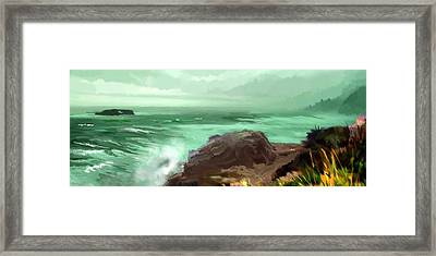 Scenic Pacific Framed Print by Dale Stillman