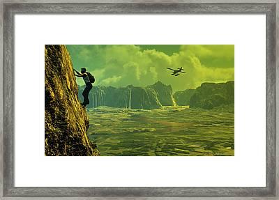 Scenic Route Framed Print by Dieter Carlton