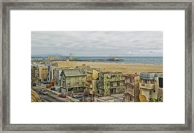 Scenic Santa Monica California Framed Print by Mountain Dreams