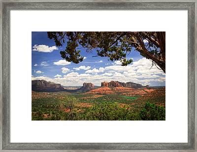 Scenic Sedona Framed Print by Barbara Manis