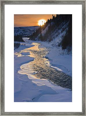 Scenic Sunset In Winter Over Phelan Framed Print by Kevin Smith