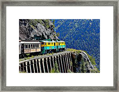 Scenic Train Cartoon Framed Print by Sophie Vigneault