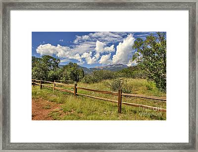Scenic View Framed Print by Cheryl Davis