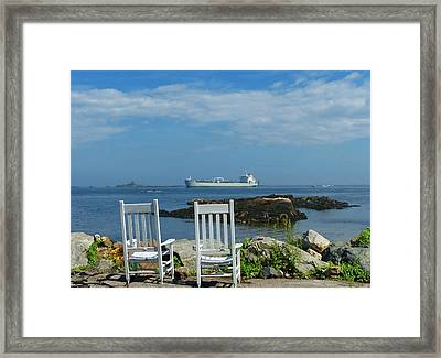 Framed Print featuring the photograph Scenic View by Elaine Franklin