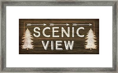 Scenic View Framed Print by Jennifer Pugh