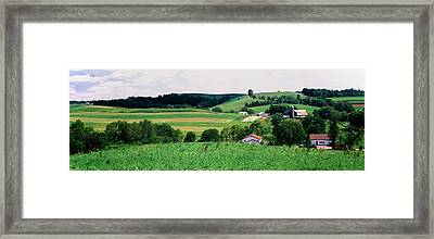 Scenic View Of A Farm, Amish Country Framed Print