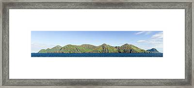 Scenic View Of Barren Islands Framed Print by Panoramic Images