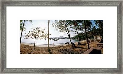 Scenic View Of Beach At Bao Dai Villa Framed Print