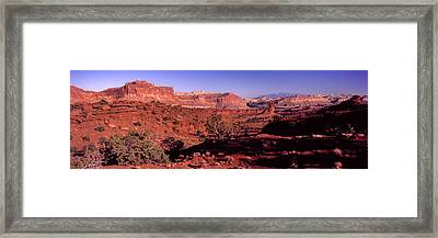 Scenic View Of Capitol Reef National Framed Print