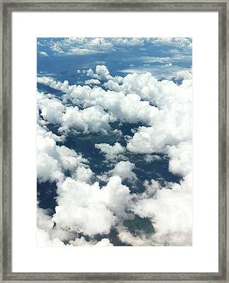 Scenic View Of Cloudy Sky Framed Print by Agnieszka Morawska / Eyeem