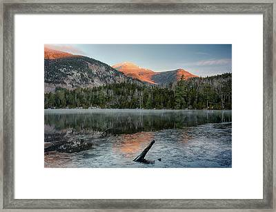 Scenic View Of Copperas Pond Framed Print