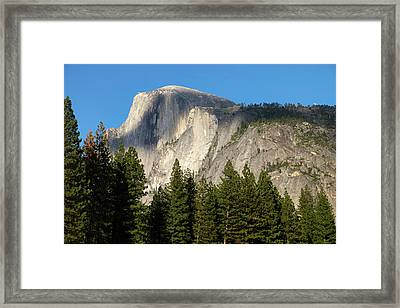 Scenic View Of Half Dome From Yosemite Framed Print by Gina Bringman