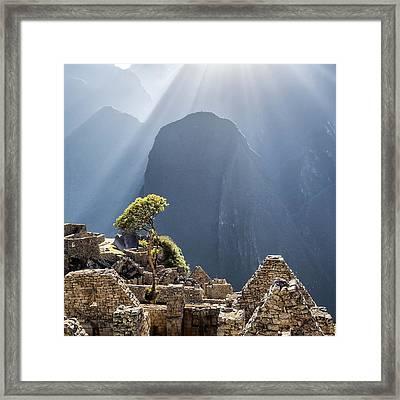 Scenic View Of Machu Picchu Framed Print by Diego Cambiaso / Eyeem