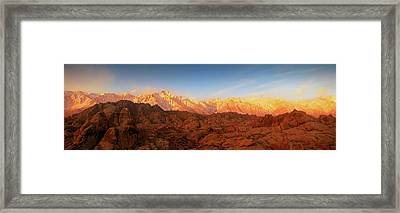 Scenic View Of Mountains, Mount Framed Print by Panoramic Images