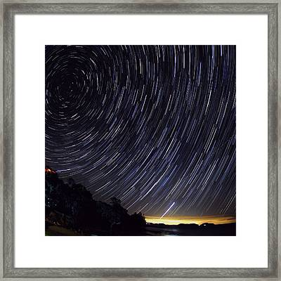 Scenic View Of Night Sky Framed Print by Brent Purcell / Eyeem