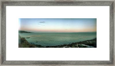 Scenic View Of Rocky Coastline Framed Print by Panoramic Images