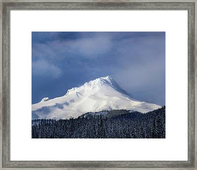 Scenic View Of Snowcapped Mountain, Mt Framed Print