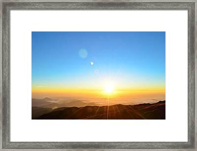 Scenic View Of Sunrise Framed Print by Arturo Rafael Enriquez / Eyeem