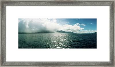 Scenic View Of The Beagle Channel Framed Print