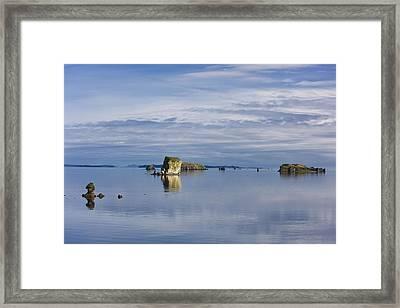 Scenic View Of The Shoreline Of Kalsin Framed Print