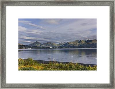 Scenic View Of Womens Bay, Kodiak Framed Print by Kevin Smith