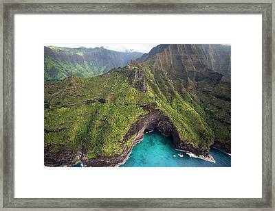 Scenic Views Of Kauai Framed Print by Micah Wright