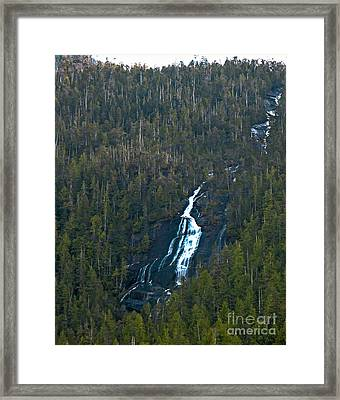 Scenic Waterfall Framed Print by Robert Bales