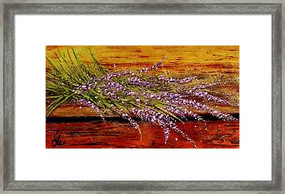 Framed Print featuring the painting Scent Of Lavender... by Cristina Mihailescu